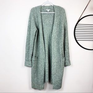 Cynthia Rowley Gray Knit LongOpen Sweater Cardigan